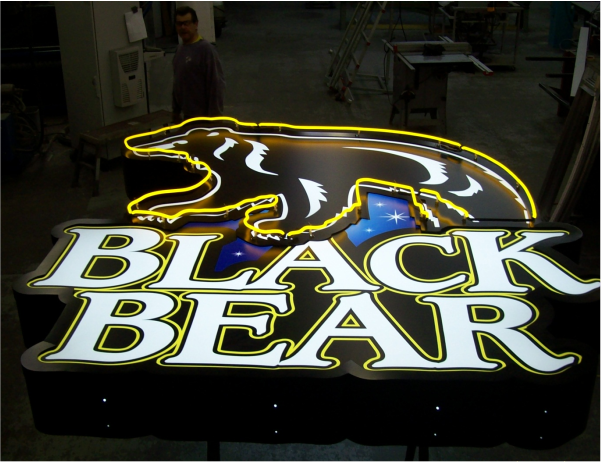 black bear casino sign