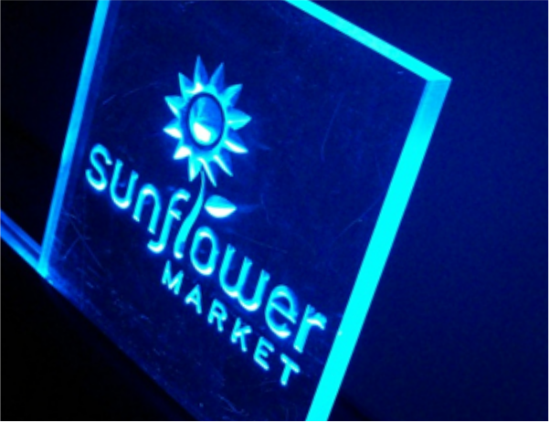 sunflower market sign
